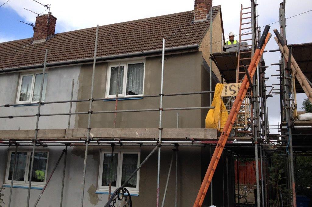 exterior insulation and house render 3