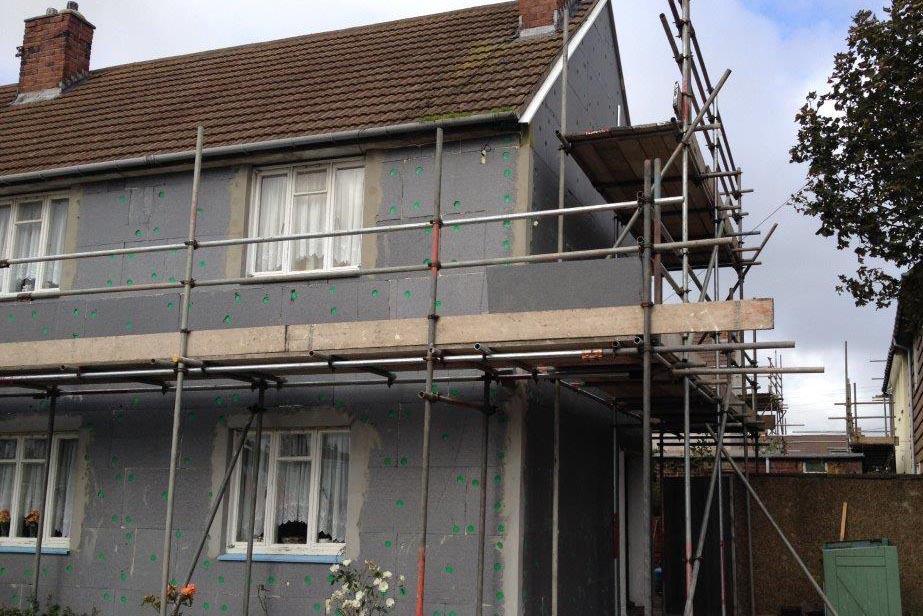 exterior insulation and house render 2