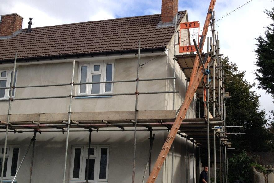 exterior insulation and house render